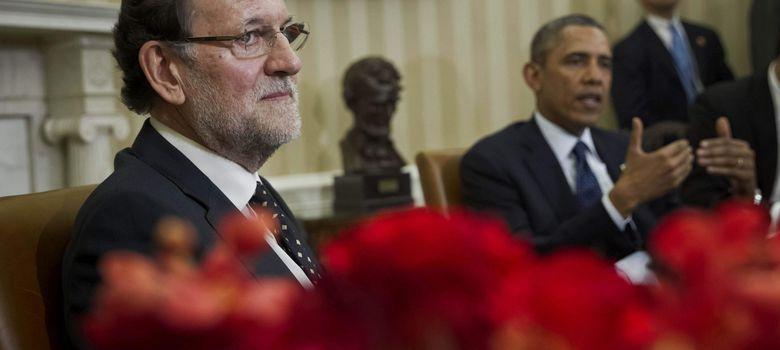 Foto: Mariano Rajoy durante el encuentro con Barack Obama en la Casa Blanca. (EFE)