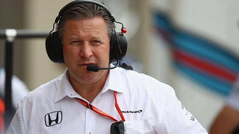Zak Brown, jefe de McLaren, este viernes en el Circuito Gilles Villeneuve de Montreal (Canadá). (AFP)