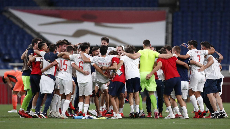 Foto: España celebra su pase a la final. (EFE)