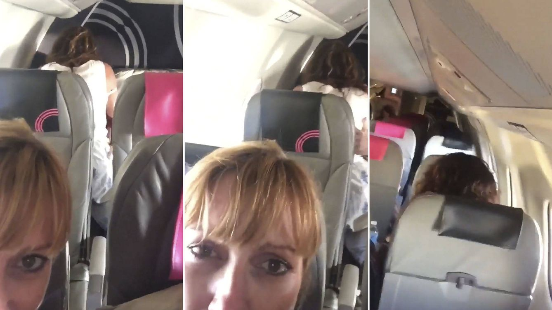 Una pareja comenzó a hacer el amor en el avión; así actuaron los del asiento de delante