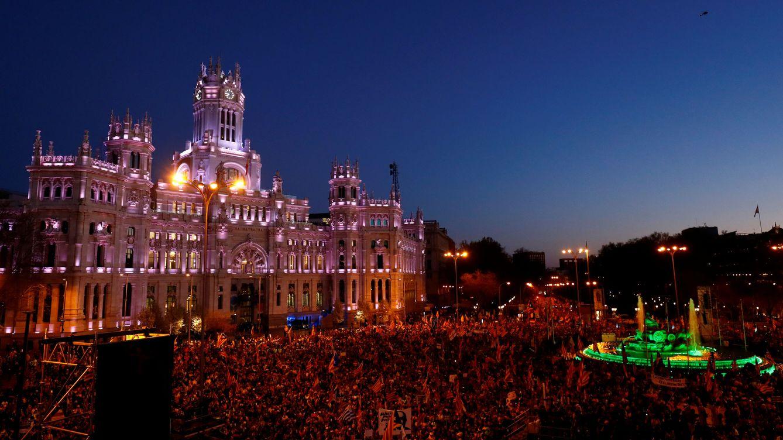 El independentismo pincha en Madrid: baja asistencia en una protesta sin incidentes