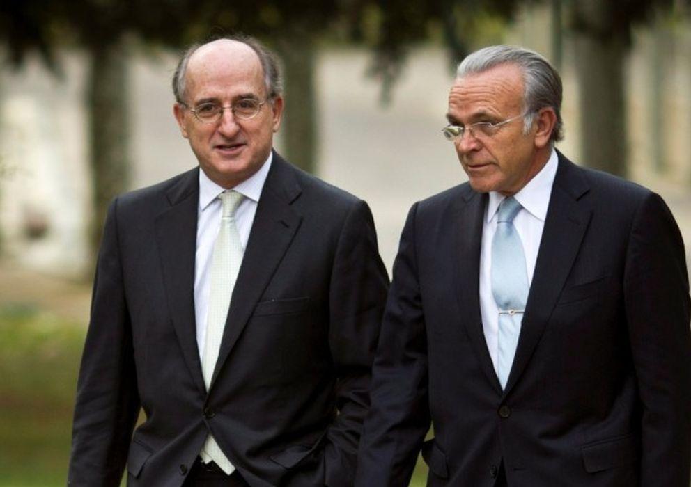 Foto: El presidente de Repsol, Antonio Brufau y el presidente de La Caixa, Isidro Fainé. (Gtres)