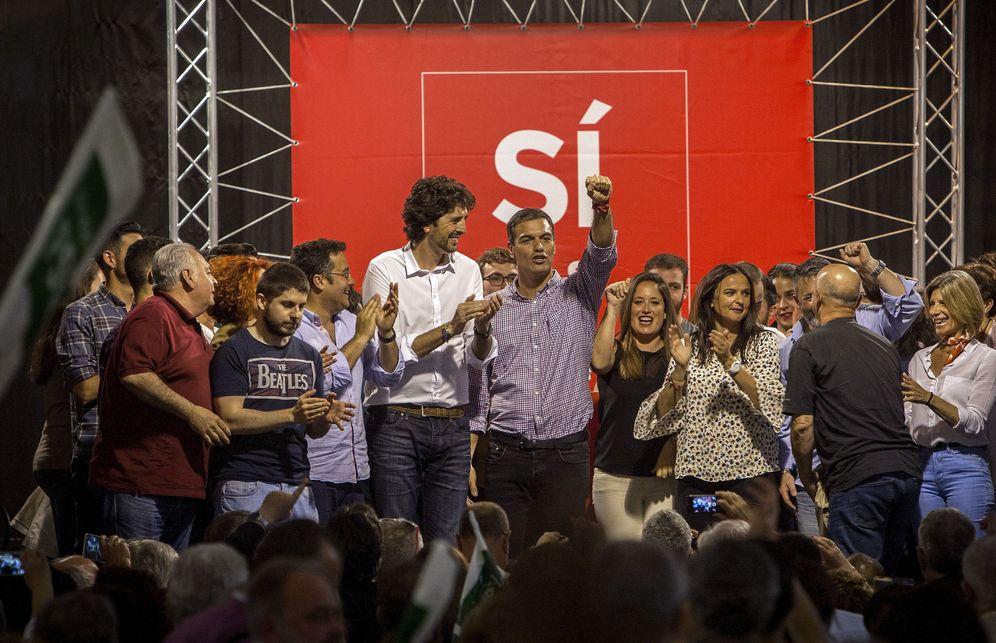 Foto: Pedro Sánchez, este 4 de mayo en un acto con militantes en Jerez de la Frontera, Cádiz. (EFE)