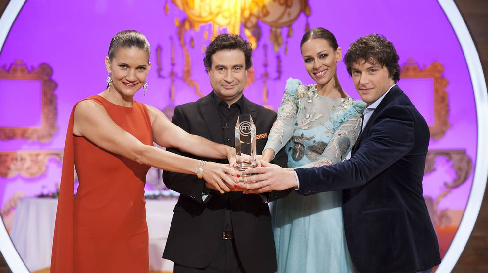 Foto: Samantha Vallejo-Nágera, Pepe Rodríguez, Eva González y Jordi Cruz, de 'Masterchef'.