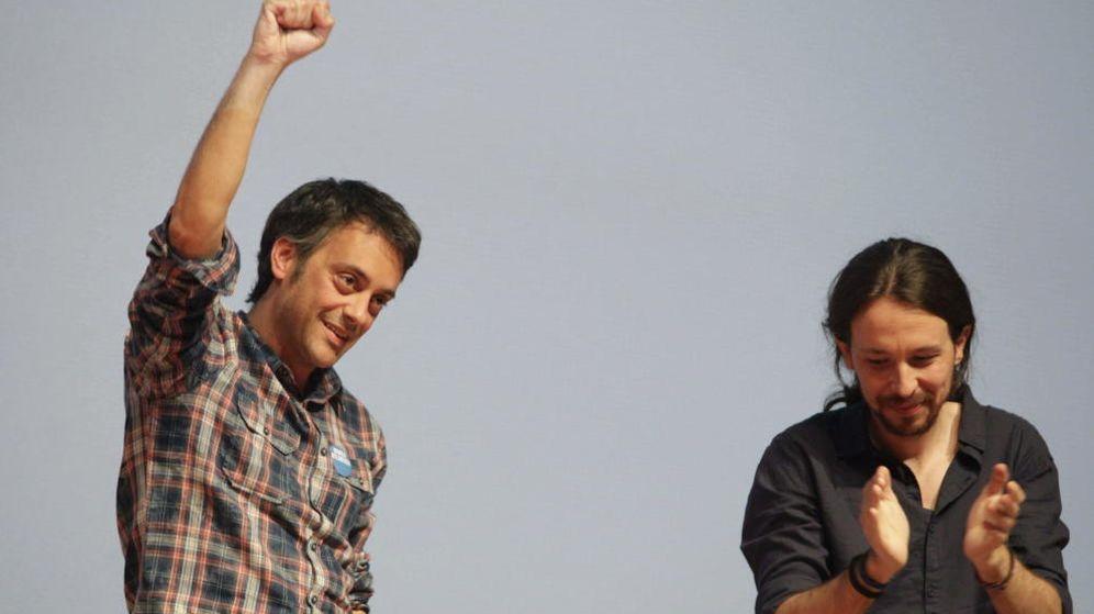 Foto: Xulio Ferreiro, candidato a la Alcaldía de La Coruña, junto a Pablo Iglesias (EFE)