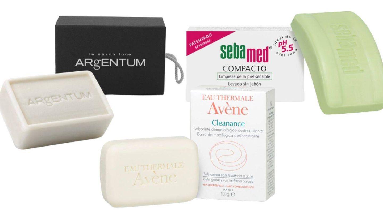 Jabones y panes dermatológicos que respetan el pH de la piel.