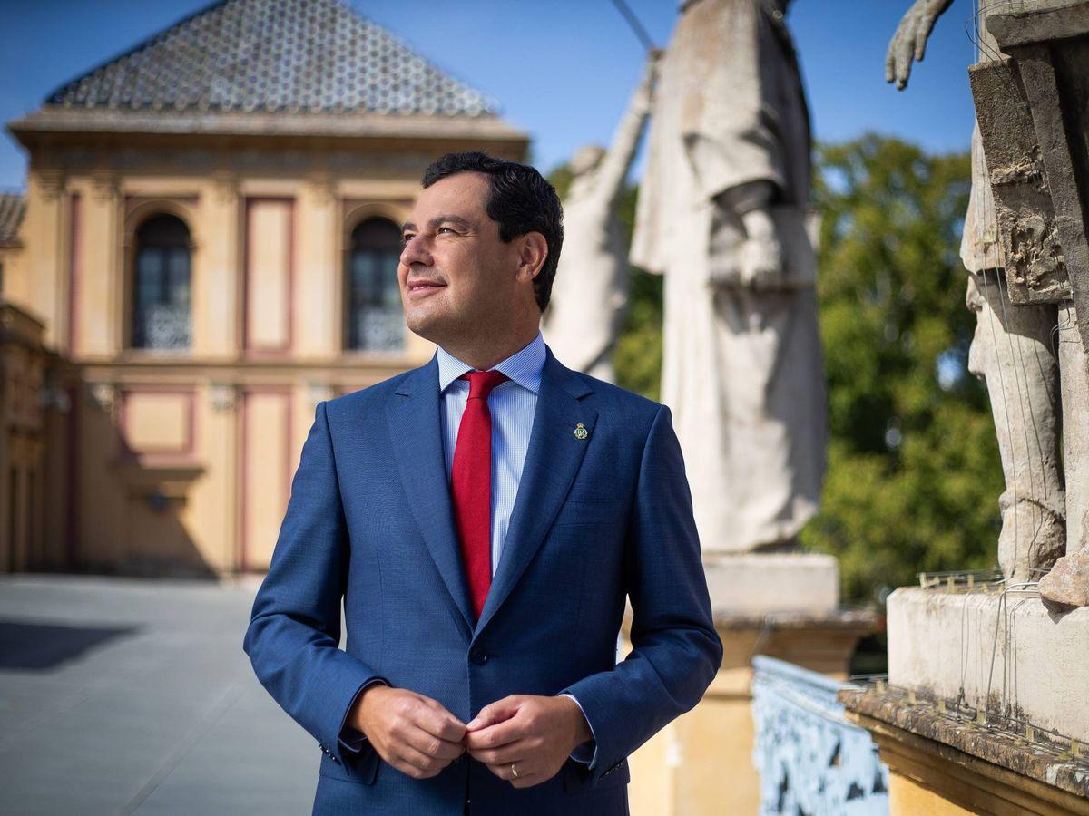 Foto: El presidente de la Junta de Andalucía, Juan Manuel Moreno Bonilla. (Foto: Fernando Ruso)