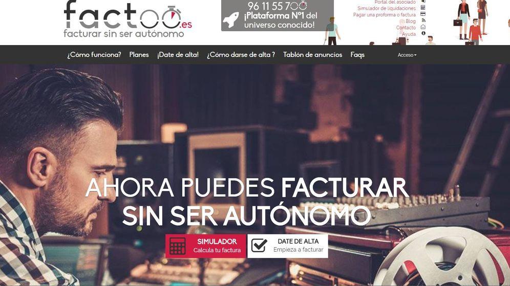 Foto: Factoo se dio a conocer en toda España por su reclamo de servir para facturar sin ser autónomo.