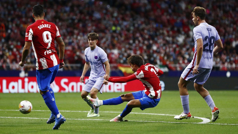 Joao Félix, en una de las ocasiones más claras del Atleti. (Reuters)