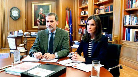 AirPods, tablets, teléfonos... El teletrabajo de Felipe y Letizia y sus colegas europeos