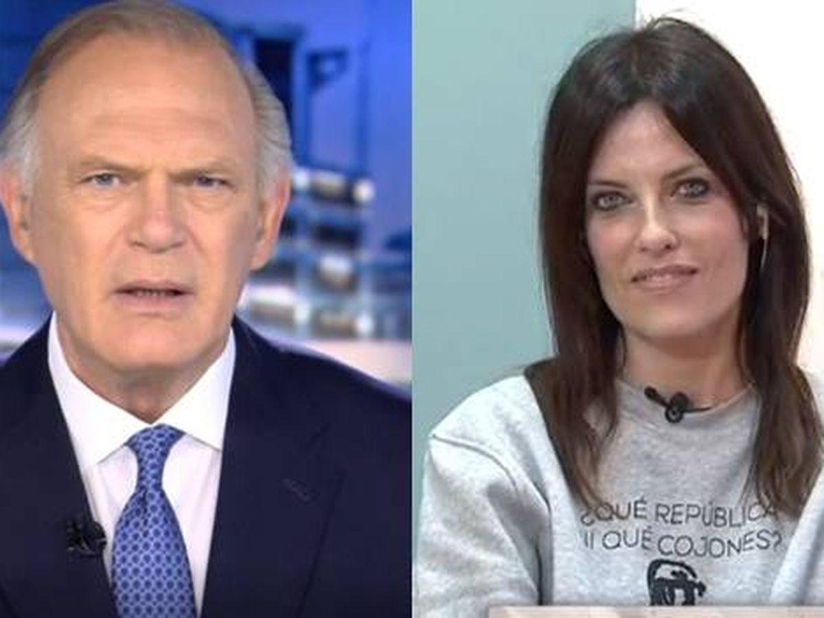 Foto: Pedro Piqueras y Cristina Seguí. (Mediaset España)