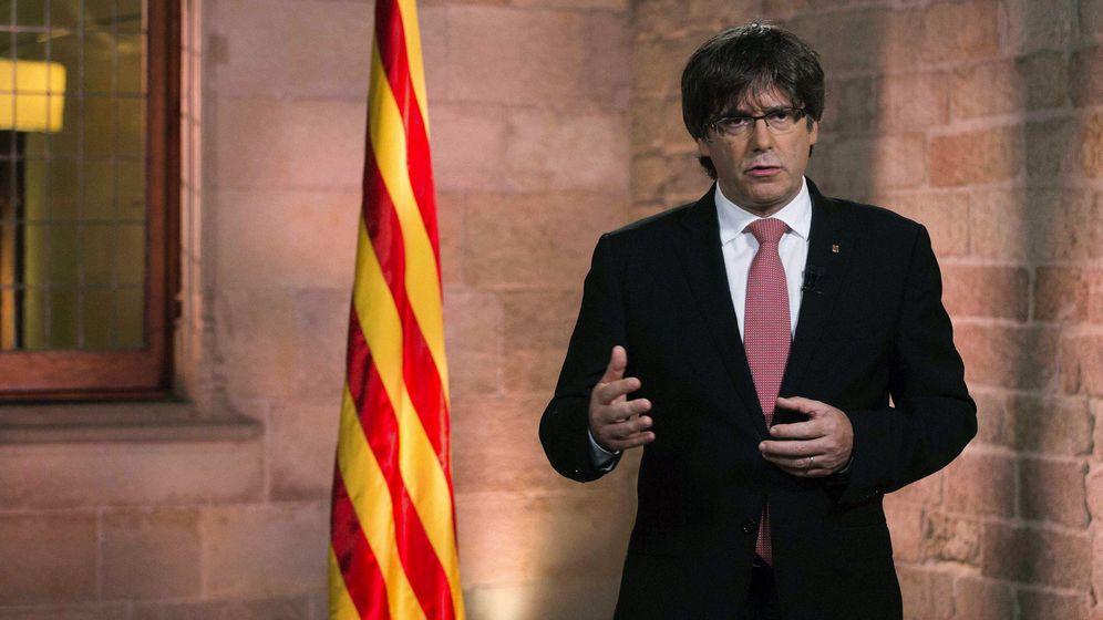 Foto: Mensaje de Carles Puigdemont a Cataluña. (EFE)