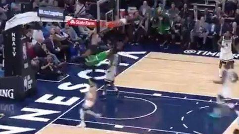 La brutal caída de Jaylen Brown al hacer un mate que heló el corazón en la NBA