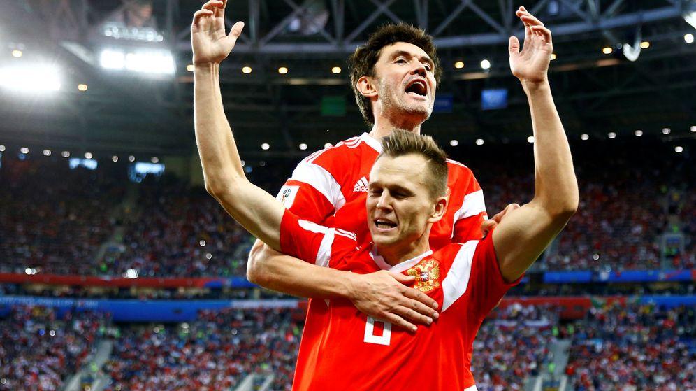 Foto: Cheryshev celebra un gol ruso. (Reuters)