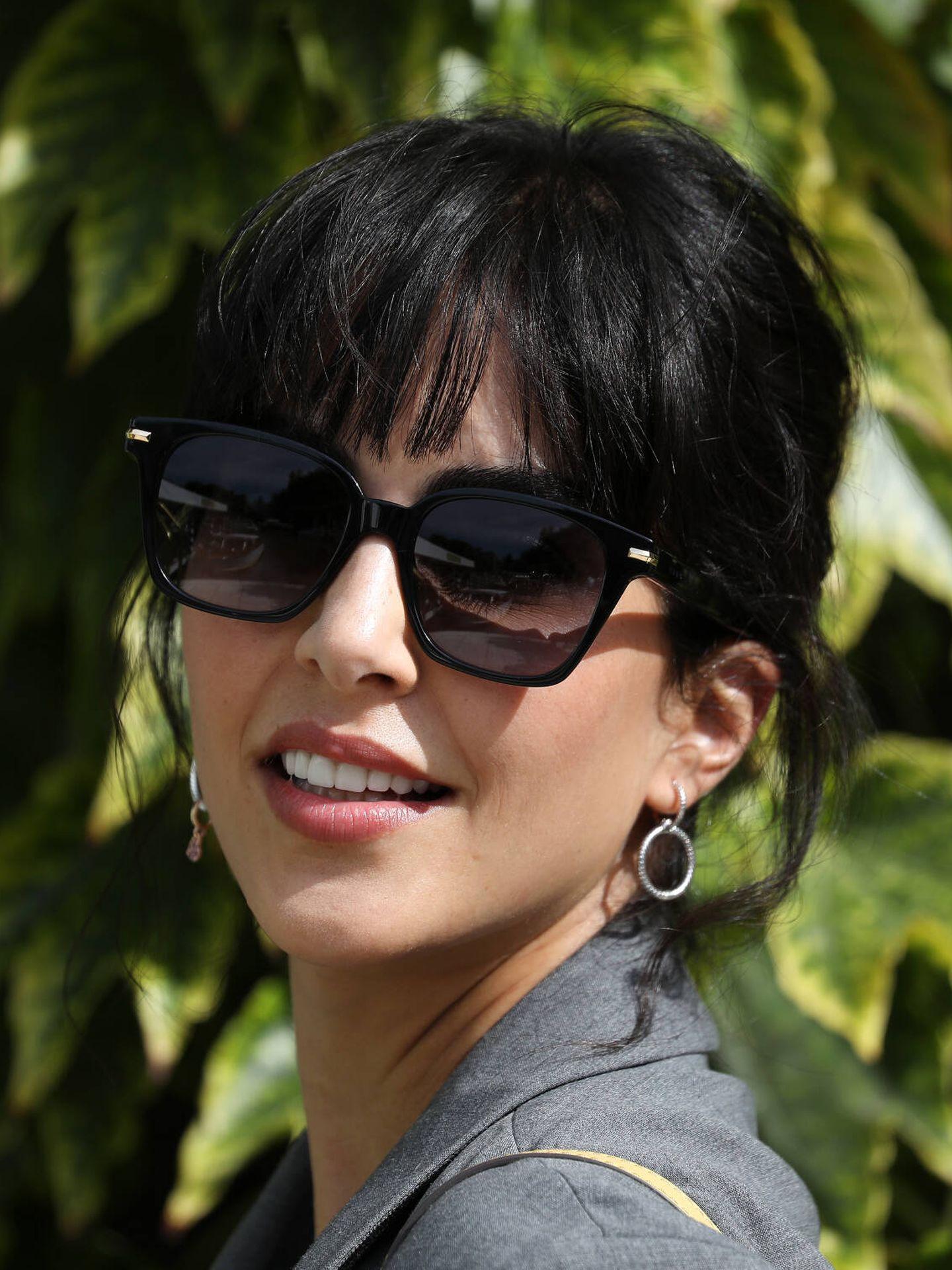El sempiterno flequillo de Rocío Muñoz Morales. (Getty)