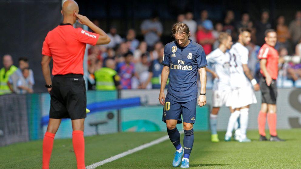 El motivo de la expulsión de Luka Modric en el Celta-Real Madrid