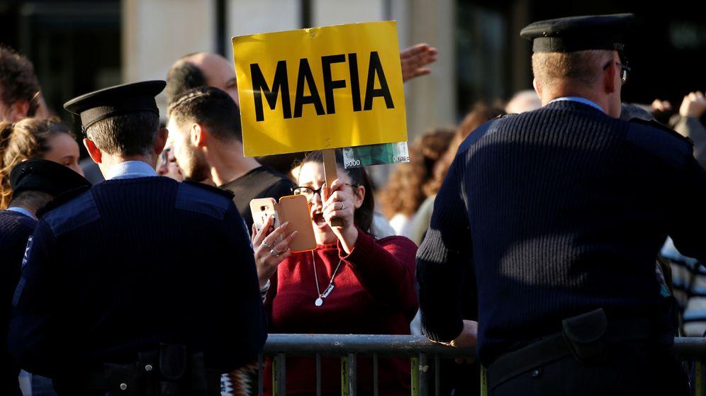 Foto: Demonstration demanding justice over the murder of journalist daphne caruana galizia in valletta