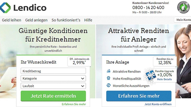 Imagen de la plataforma alemana de Lendico.