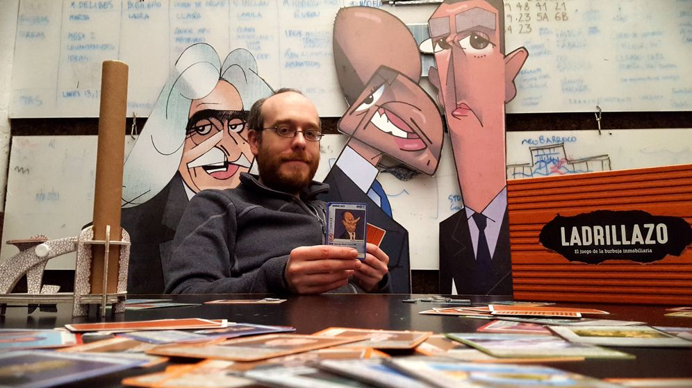 Foto: Alejandro Pérez, cocreador de Ladrillazo, en Basurama (A.P.)