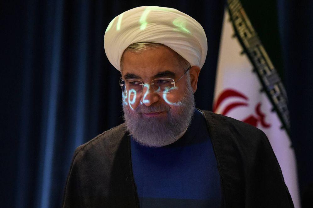 Foto: El presidente de Irán, Hassan Rohaní, durante una rueda de prensa en la Asamblea General de la ONU, en Nueva York. (Reuters)