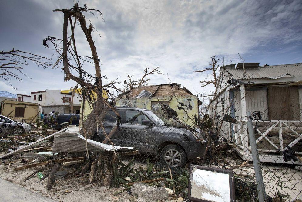 Foto: Vista de varios de los daños ocasionados por el huracán Irma en Philipsburg, en la isla de San Martín. (EFE)