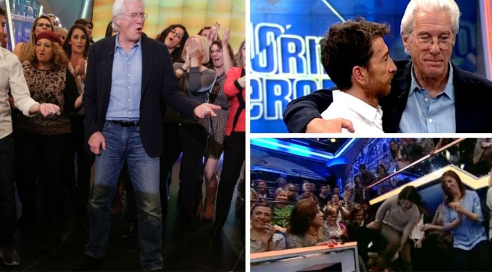 Richard Gere, desatado en 'EH': baila 'Pretty Woman' rodeado de mujeres