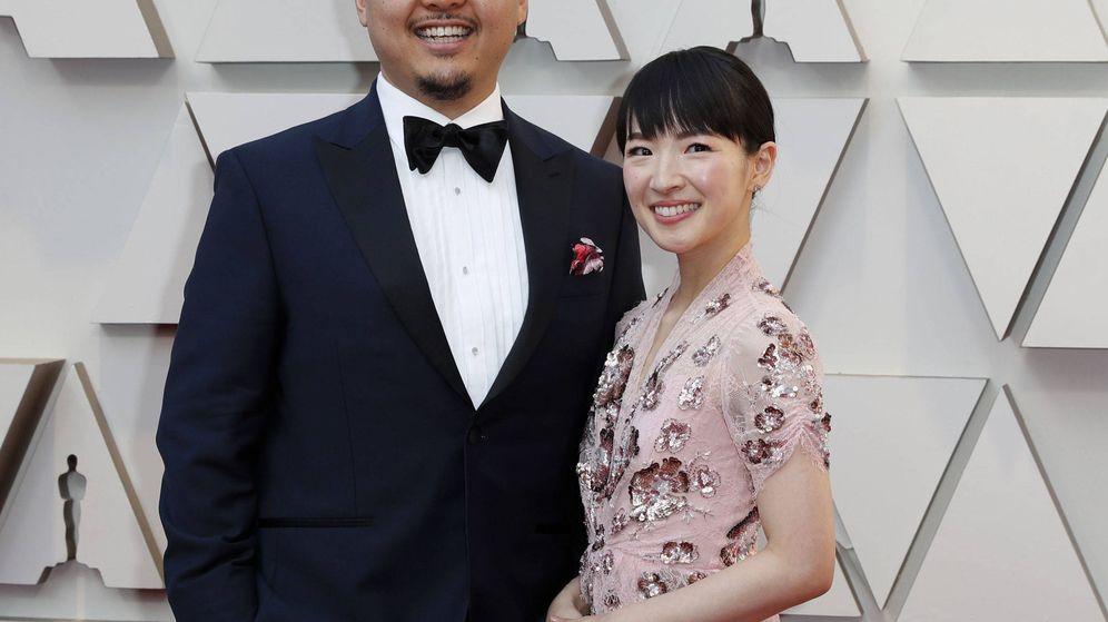 Foto: Takumi y Marie Kondo, en los Oscar. (EFE)