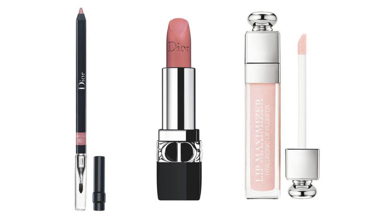El trío labial de Dior para crear el maquillaje de María Valverde.