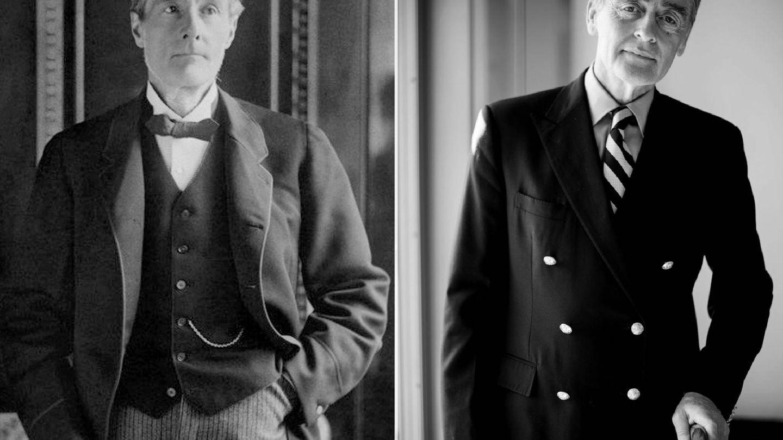 A la izquierda, el primer duque de Westminster. A la derecha, Gerald Grosvenor, sexto duque y padre de Hugh. (Getty)