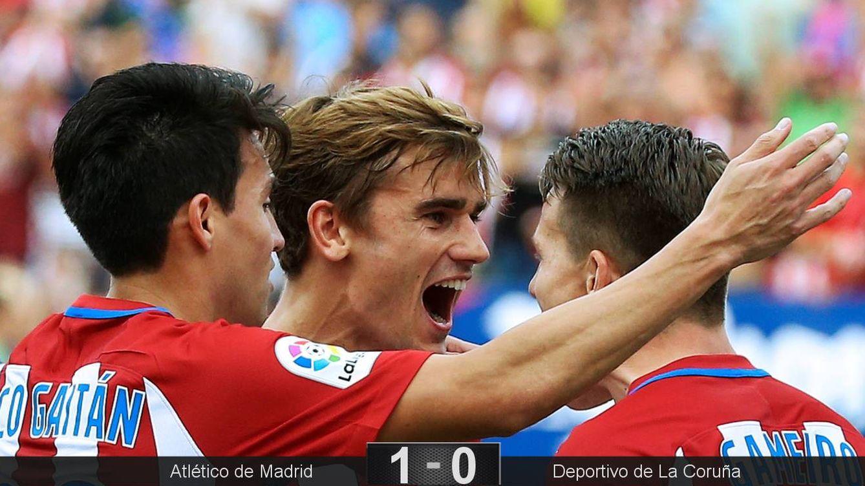 Foto: Griezmann ya lleva 5 goles en la liga (Reuters/Andrea Comas)