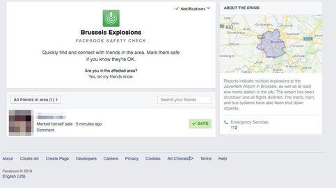 Quejas a Facebook por el retraso en la activación del 'Safety Check' en Bruselas