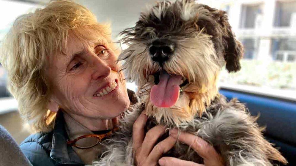 Foto: Mercedes Milá y su perro Scott. (Movistar)