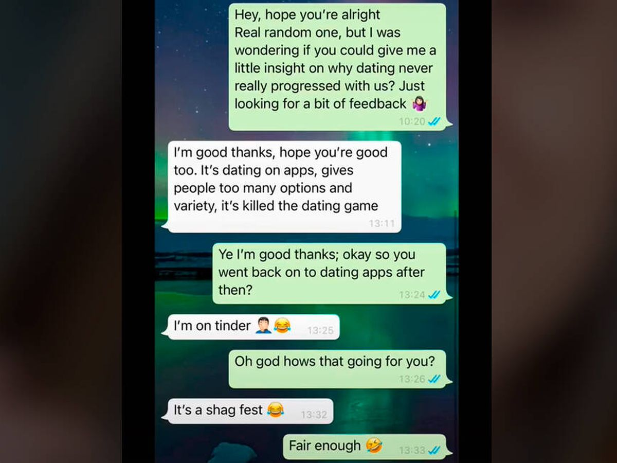 Foto: La conversación entre ambos se ha vuelto viral por su sinceridad (TikTok)