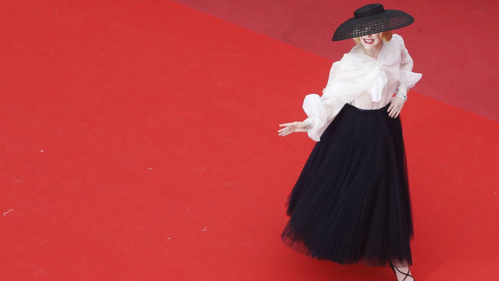 Foto: Elle Fanning en Cannes. (Getty)
