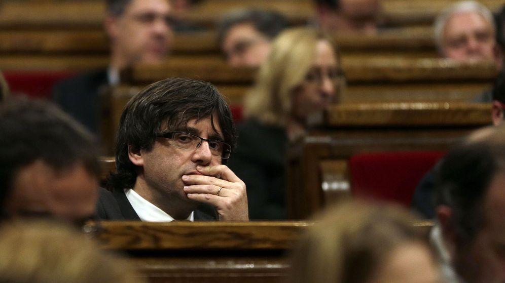 Foto: Debate de investidura de Carles Puigdemont. (EFE)