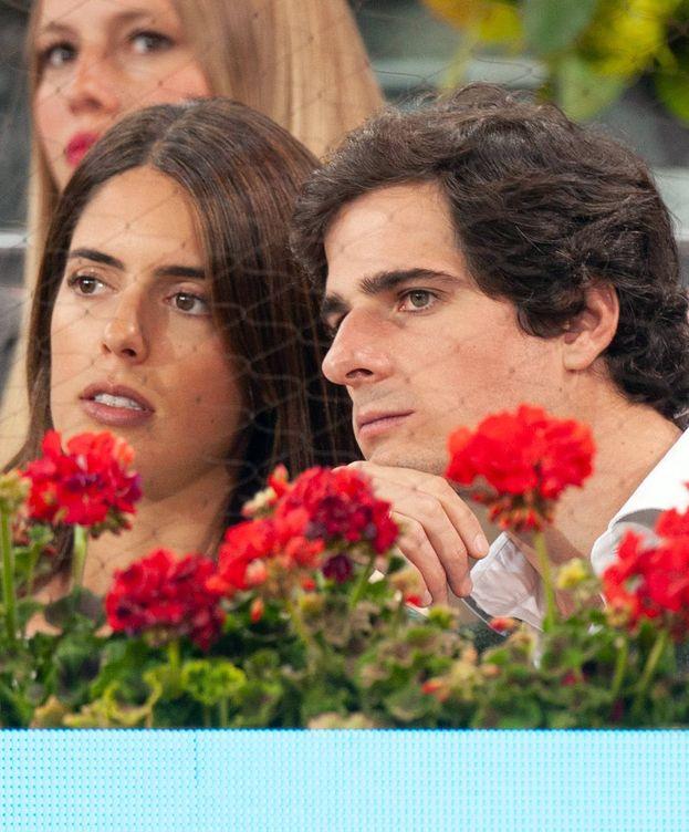Foto: Sofía Palazuelo y Fernando Fitz-James Stuart y Solís, en el Mutua Madrid Open. (Getty)