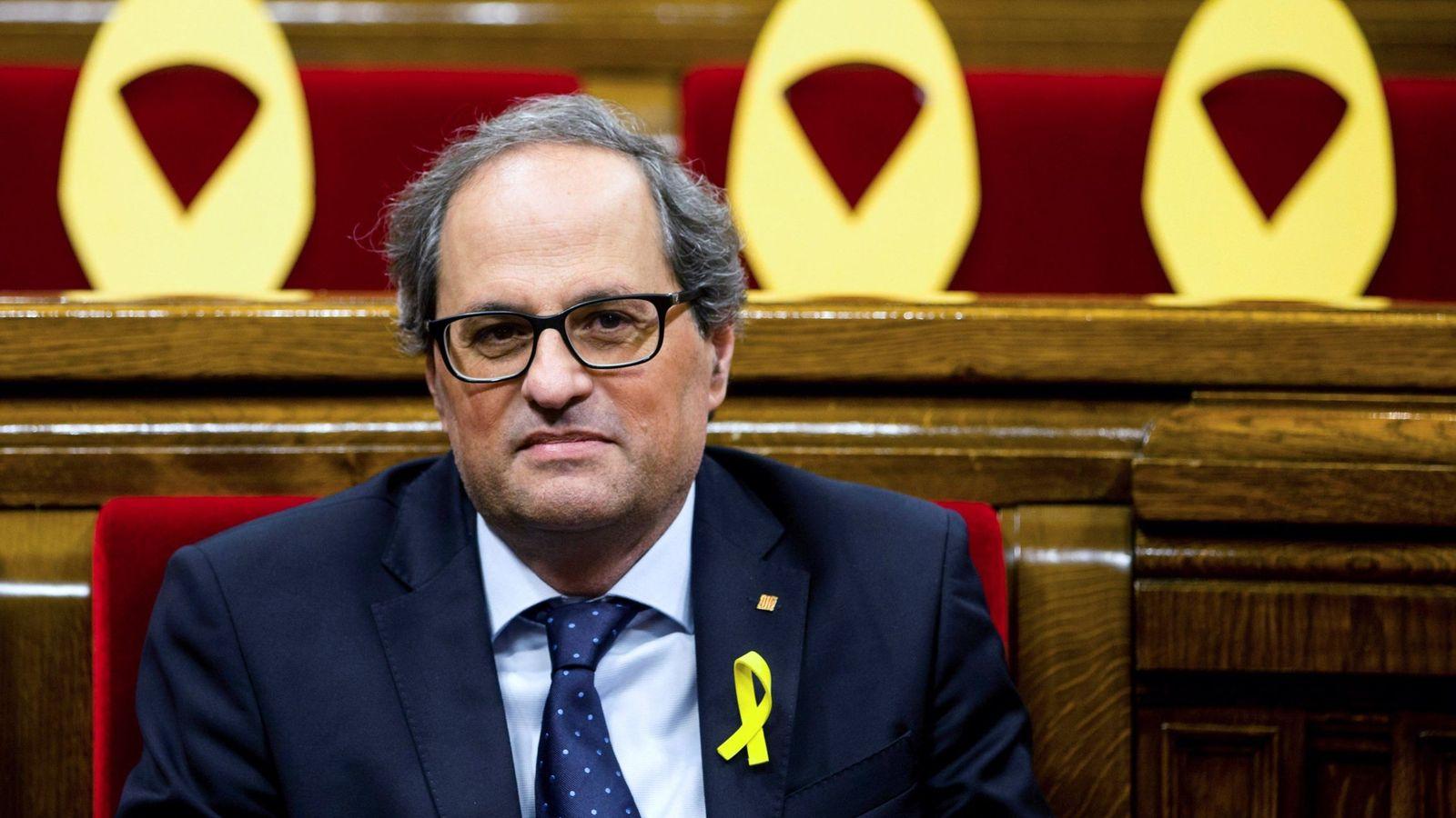 Foto: El presidente de la Generalitat Quim Torra al inicio de la sesión de control al gobierno catalán