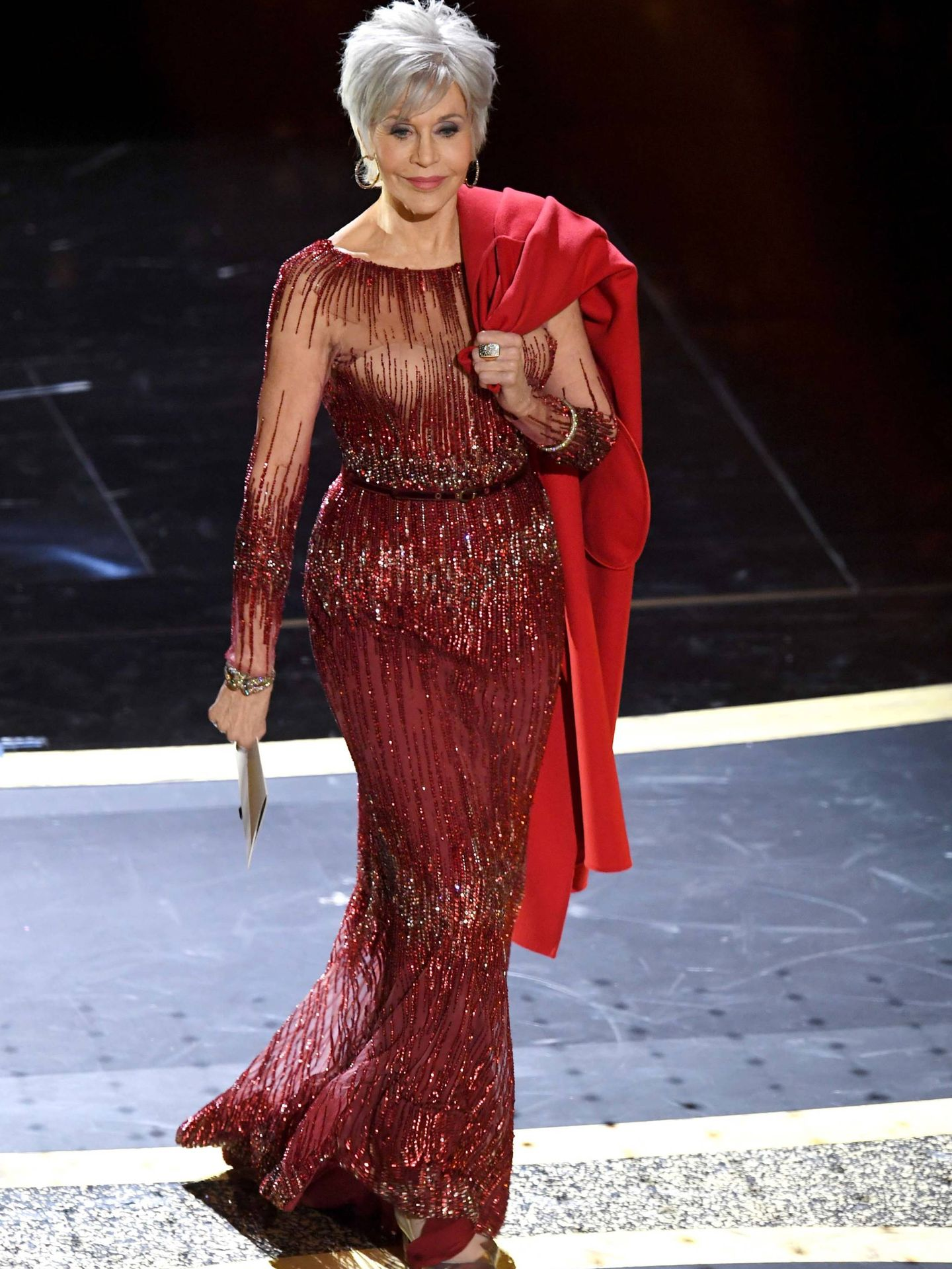 Jane Fonda, en los Oscar. (Getty)