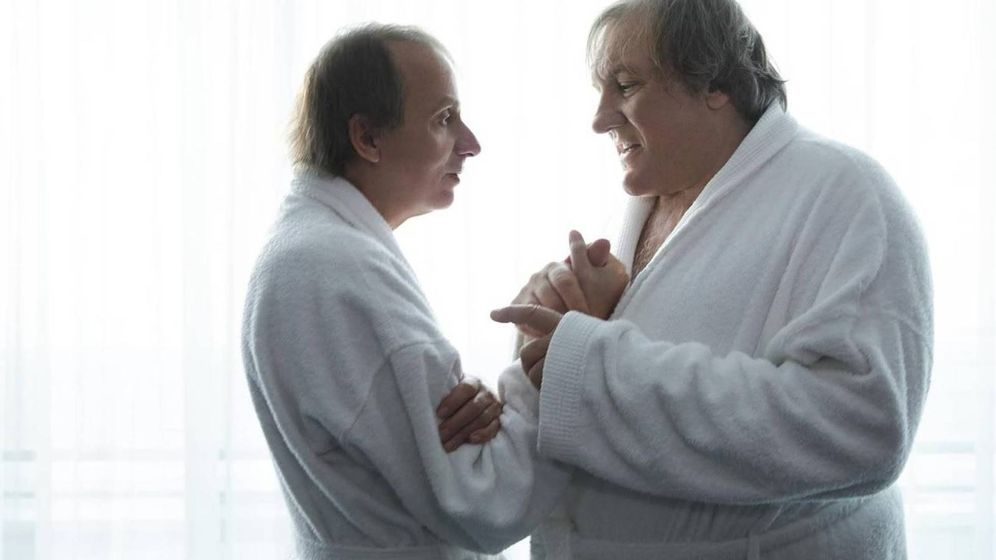 Foto: Michel Houellebecq y Gérard Depardieu en 'Thalassos'.(Wild Bunch)