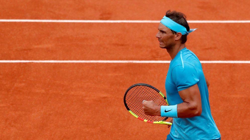 Foto: Nadal, en su partido contra Bolelli. (EFE)