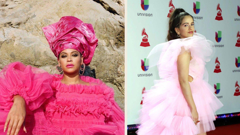 Beyoncé y Rosalía (YouTube y Cordon Press)