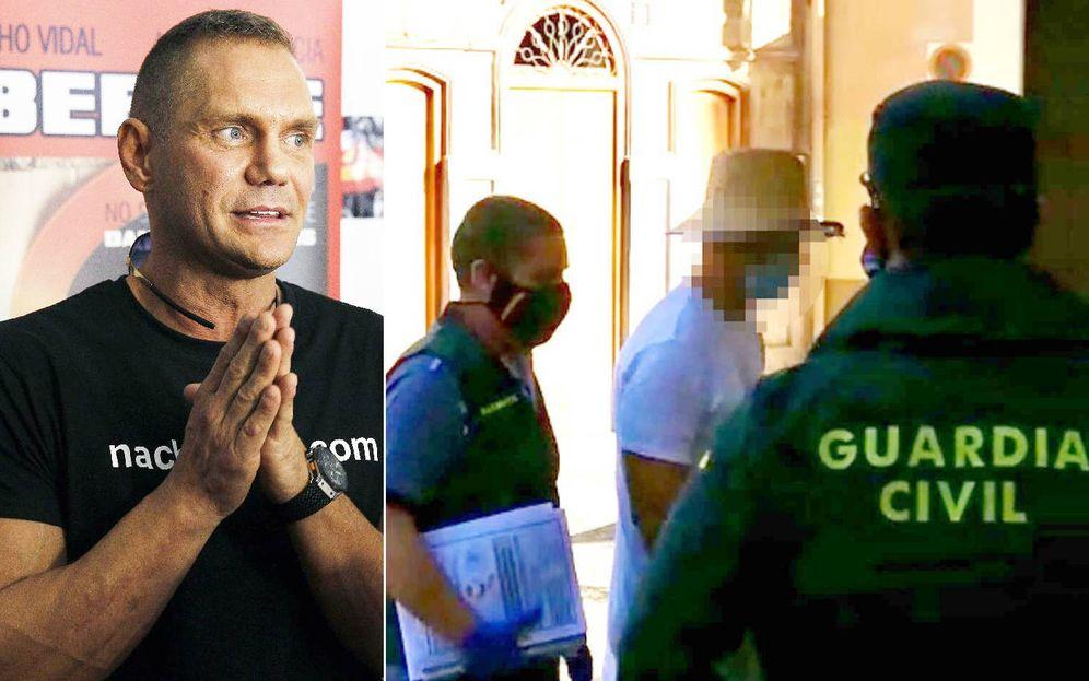 Foto: Nacho Vidal al entrar en los juzgados de Xàtiva, el viernes pasado. Guardia Civil
