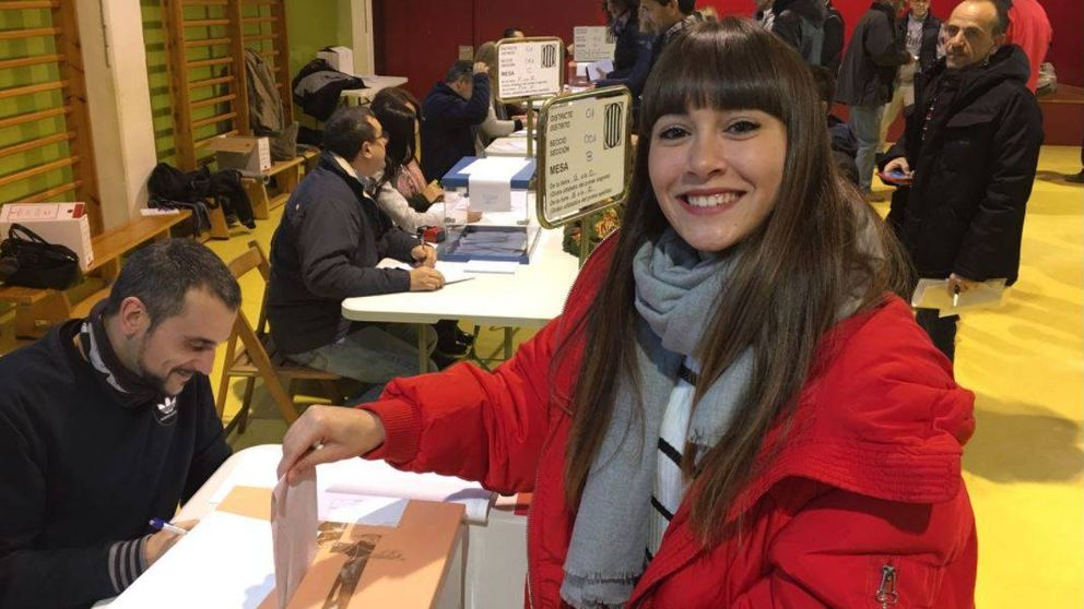 Alfred, Nerea y Aitana, los catalanes de la academia de 'OT', salen a votar
