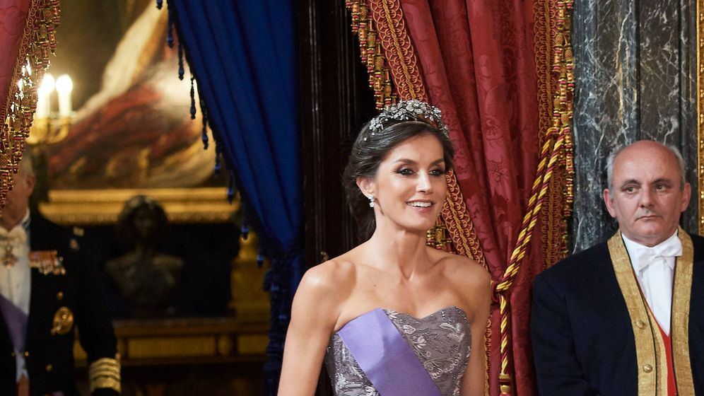 Foto: La Reina en su última cena de gala. (Limited Pictures)
