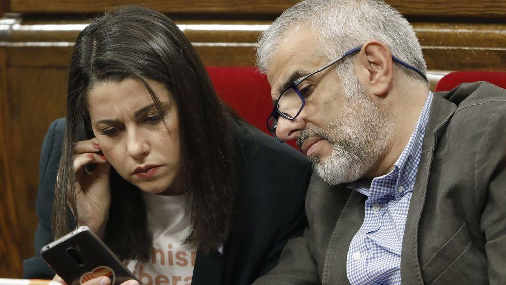 Foto: La líder de Ciutadans, Inés Arrimadas, y su portavoz, Carlos Carrizosa. (EFE)