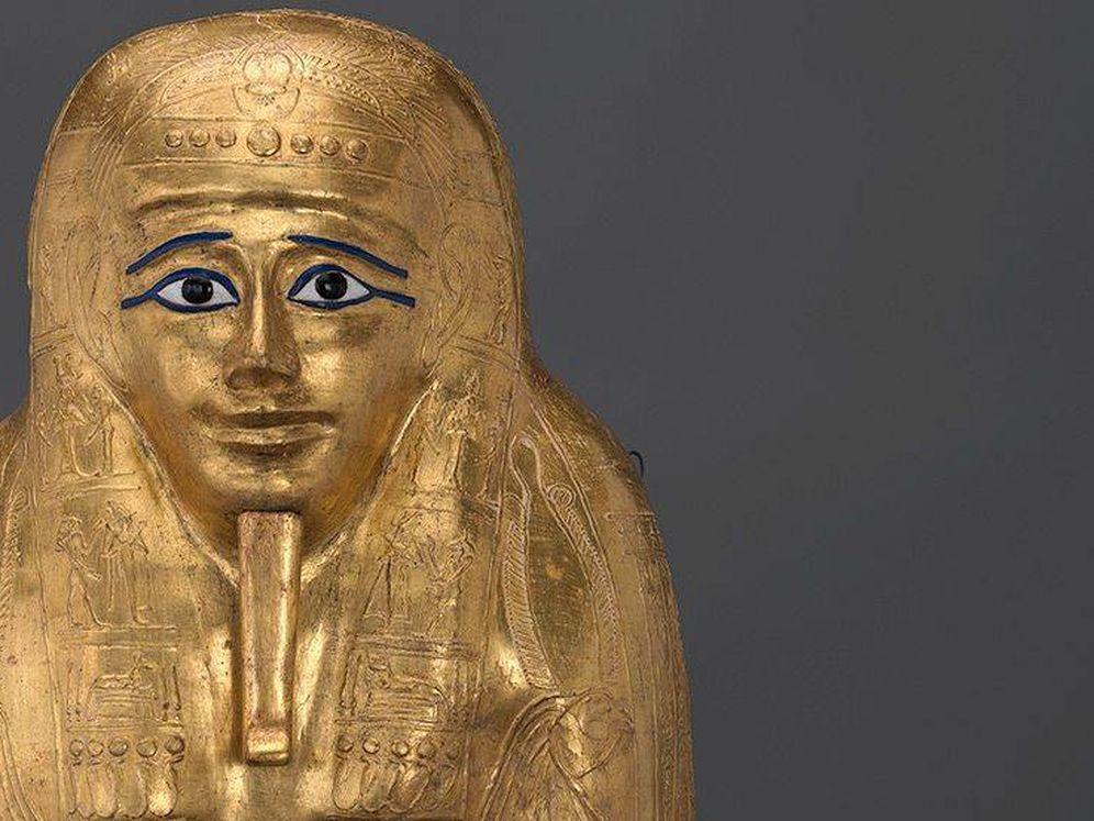 Foto: El sarcófago de la momia de Nedjemankh. (Met Museum)