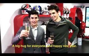 Los buenos deseos de dos campeones