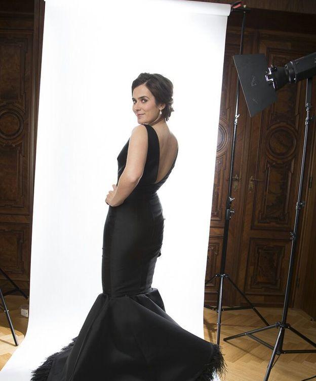 Foto: Anna Allen preparando su fotomontaje para los Oscar