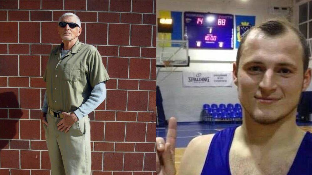 Foto: A la izquierda, David Lane. A la derecha, Zozulya señalando las cifras 14 88 en una foto de Twitter.
