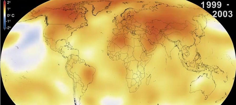 Foto: Captura del vídeo de la NASA sobre el calentamiento global (NASA's Goddard Space Flight Center)